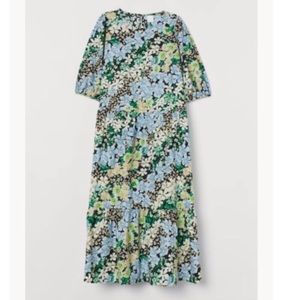 NWT H&M puff sleeve floral cotton dress